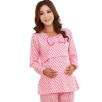 Wholesale Clothes for pregnant women nursing clothes maternity full sleeve lounge cotton sleepwear AP129