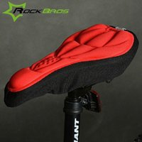 Wholesale ROCKBROS D Sponge Lycra Nylon Bike Bicycle Cycling Cycle Seat Saddle Cover Ventilate Soft Cushion For All Bikes