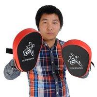 Wholesale 2X Pair Boxing Mitt MMA Target Hook Focus Punch Pad Training Glove Karate Muay Thai