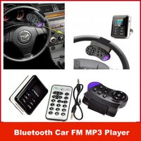 Wholesale New Handsfree Bluetooth Car Kit FM Transmitter MP3 Player Steering Wheel USB SD MMC with