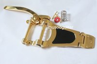 bigsby - Gold Vibrato Tremolo Bridge for Archtop Hollow Semi Hollow guitar bridge FreeShipping