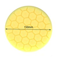 Wholesale 20Pc Yellow Inch mm Hex Logic Buffing Polishing Pad kit For Car Polisher