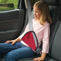 Wholesale Red Car Child Safety Cover Shoulder Harness Strap Adjuster Kids Seat Belt Clip Child Resistant Safety Belt Protect