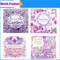 Wholesale Decompression coloring books Animal Kingdom Enchanted Forest Lost Ocean secret garden inky coloring book for kids adults Graffiti Painting