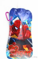 Wholesale Spider man Water Bag cup Sports bottle folding water bag Drinking water tool Water Bladder ZL2