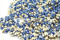 Wholesale mm light sapphire color rivoli crystal craft accessories silver base rhinestone sewing accessorie