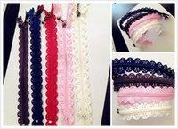 Wholesale DIY Handmade cm nylon beautiful printing Hollow out knurling decorative lace zipper for garments dress Bag etc
