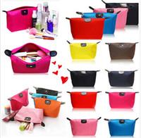 10 colores de alta calidad señora maquillaje bolsa cosmética componen bolsa de embrague colgantes artículos de tocador viaje organizador joyería bolso casual