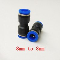 Wholesale 20pcs Pneumatic Air Fitting mm to mm Union Straight Connector PU8