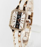 Wholesale New watches Korea selling square diamond ladies watches fashion imitation ceramics