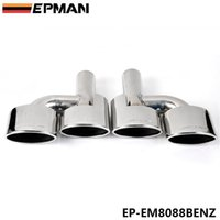 benz exhaust - EPMAN High Quality cm Stainless Steel Exhaust Muffler Tip For BENZ C Class AMG W204 EP EM8088BENZ