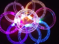 Wholesale Led flashing light up blinking bracelet for Christmas party decoration
