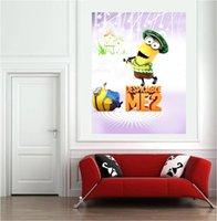 bedroom decore - 2015 hot selling despicable me2 minion sticker poster decoration x60cm x24inch wallsticker home decore
