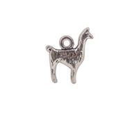 alpaca fashion - 20 Fashion Antiqued Silver metal cute Alpaca Charms