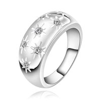 band start - Hot sell Chrismas gift silver plated ring fashion jewelry start on start ring SMTR504