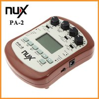 al por mayor efectos pa-NUX PA-2 Efecto de guitarra acústica Multifuncional accesorios de piezas de guitarra portátil 18 tipos de preajuste dos modos de ajuste 10pcs DHL