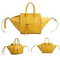 luxury leather handbags - 2015 Fashion Luxury Genuine Leather Women Handbag Colors Bat Wings Phantom Bags Smiley Bag Brand Designer Tote Messenger Bag