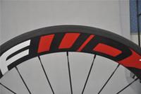Wholesale Cheap Red White Decal Road Bike Bicycle Wheelsets mm Road Bike Track Wheel Rims Carbon Fiber Wheel Light FFWD Wheel k Matte Glossy C