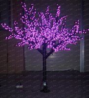 Wholesale 2M High Quality Outdoor LED Cherry Tree Lights LED Artificial Blossom Trees Light Different Colors Available LLFA36