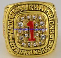 arkansas stone - 18K Gold Crystal Enamel World Series NCAA Arkansas Razorbacks Replica Championship Rings