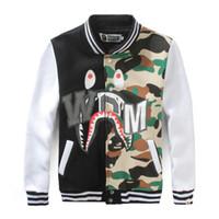 camo clothing - Bape Shark Camouflage Print Hoodie Camo Clothing Polka Dot Men Sweatshirt Fashion Couple Outfit Boys Streetwear Thrasher Hiphop HBA HL018