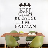 Wholesale I m Batman Keep Calm Wall Art Stickers for Kids Rooms Decal DIY Home Decoration Decor Mural Decals