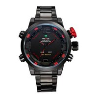 alarms business - Cheap New hot weide wrist watch men s business Stainless steel strap Alarm clock Sports quartz watch led waterproof timer luxury watches