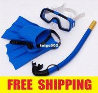 scuba diving equipment - 2014 New Arrival Children s Scuba Diving Equipment Dive Mask Glass Fins Snorkel Set Kids Scuba Snorkeling Gear Kit