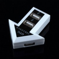 Cheap Micro USB 2.0 OTG Multi Function 4-Port HUB for Computer PC Galaxy S3 S4 S5 NOTE 2 3 smart phone & PC