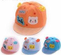 Wholesale Fashion Colors Cute Unisex Baby Girl Boy Hat Toddler Cotton Beret Hats Child Cartoon Sun Peaked Caps
