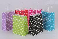 Wholesale Polka dots shopping bag paper gift bag per paper bags cm x cm x cm