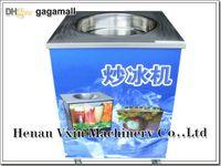 Wholesale commercial W V Hz round flat pan milk fruit chocolate fried ice cream machine fry ice pan frying ice cream roll machine