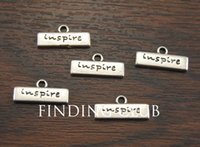 antique inspired rings - Metal Alloy Antique Silver Inspire Letter Charms Jewelry Pendant Charm x8mm A1063