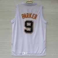 Wholesale Champions Tony Parker White Jersey Mens Jersey Hot Sale All Player Jerseys Vest Top Quality