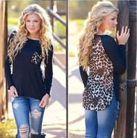 Wholesale New Autumn Womens Chiffon Leopard Loose Long Sleeve Blouse Tee Shirt Casual Tops