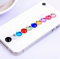 Wholesale Diamond Crystal Home Sticker Paster for iPhone S S Home Key Button for Ipad