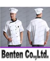 kitchen ware - Kitchen Ware White Cotton Ruffled Adjustable Chat Chef Work Hat LLFA4583F