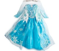 Wholesale Can be choose Size Girls Party Dresses Print Snow Princess girl Cartoon Dress Children christmas Gift Retail K35