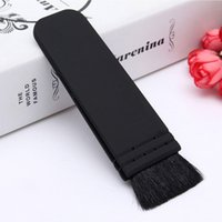 Wholesale Professional Cosmetic Black Flat Contour Blusher Brush Makeup Tools MAS_223