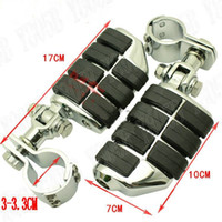 Wholesale Universal Chrome Front Left Right Footrest Foot Pegs For Harley Davidson Motorcycle mm mm Engine Guard Crash Bar