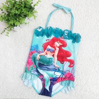 Wholesale The Little Mermaid SwimWear new style children cartoon swimming suits girls summer lovely swimsuit one piece bathing suits