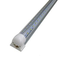 Wholesale DHLV Shaped FT T8 Led Tube Lights Angle Double Glow W Led Integration Lights Warm Natural Cool White AC V UL FCC