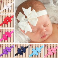 baby butterfly headbands - Children Hair Ribbon Swallowtail Butterfly Knot Diamond ElastiRibbon Swallowtail Butterfly Knot Diamond Elastic Headband Baby Tiara Color