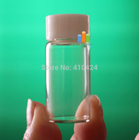 acid etched glass bottles - mL Clear Glass Wishing Bottles Vials With Plastic screw cap order lt no track