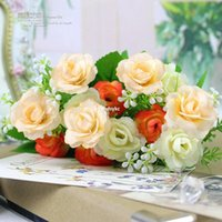 ali flowers - Silk flowers artificial flowers real touch flowers Party Decoration artificial orchids champion Iceberg roses Ali ultra lo