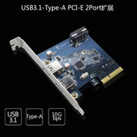 Wholesale 2015 The latest technology PCI E to USB3 times the speed USB3 PCI E expansion card two USB3