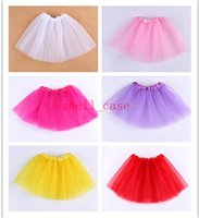 ballet gifts - Christmas Gifts Colors Candy Color Kids Tutus Skirt Dance Dresses Soft Tutu Short Dress Ballet Skirt layers Children Pettiskirt Clothes