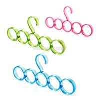 Wholesale High Quality Eco friendly hole Ring Rope Slots Holder Hook Scarf Wraps Shawl Storage Hanger HB88