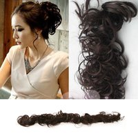 Wholesale Hot Sale New Fashion Women Ladies Curly Synthetic Hair Chignon Hair Bun Hair Extentions Colors Availabale L04079
