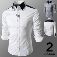 Wholesale Spring new men s shirts lapel business shirts slim fit fashion men s long sleeve shirts apparel dress shirt